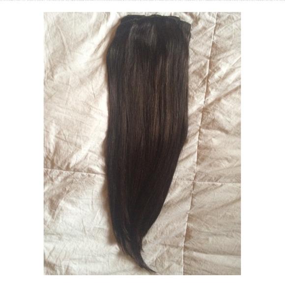 Foxy Locks Extensions Accessories Dark Brown Hair Clip In