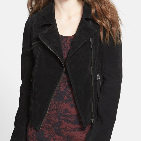 Ookie & Lala Jackets & Coats - 💥SALE💥Leather Suede Black Moto Zip Jacket