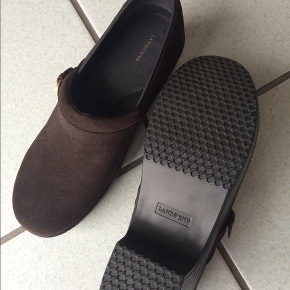 58 lands end shoes lands end brown suede shoes