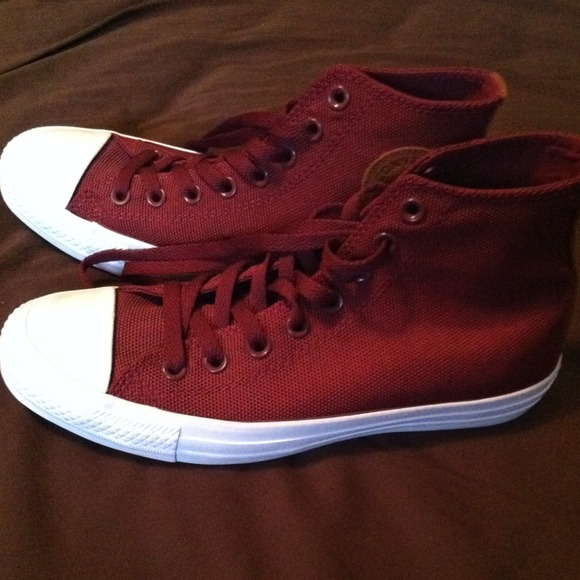 59323c1c913 Converse Shoes - Maroon converse. (Backpack material)