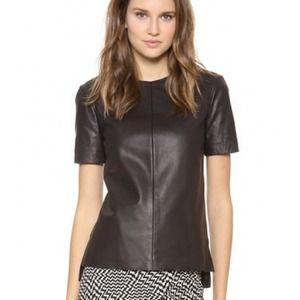 BRAND NEW RAG & BONE leather aviemore shirt xs