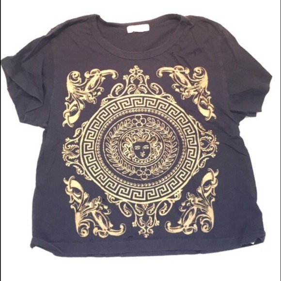 8ea730c6 Forever 21 Tops | Greek Design Crop T Shirt | Poshmark