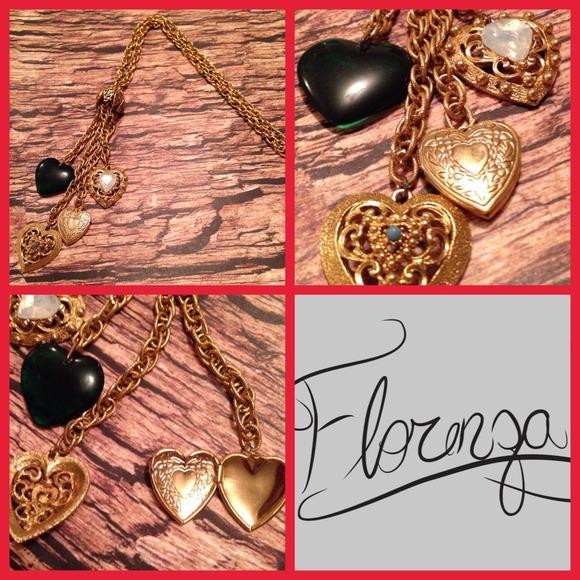 Florenza Jewelry - Vintage Florenza Gold & Jade Tassel Necklace