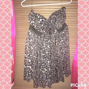 American rag cheetah dress