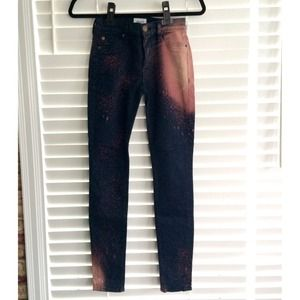 Hudson Nico Midrise Bleach Splatter Jeans