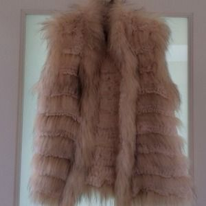 Linda Richards real rabbit fur vest