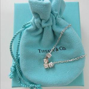 "Tiffany & Co. Jewelry - Tiffany & Co. Era ""LOVE"" Cube Sterling Necklace"