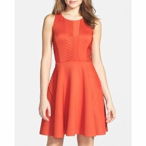 Ivy & Blu Orange Fit & Flare Dress *BRAND NEW*