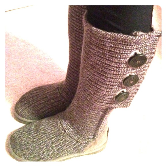 Ugg Shoes Authentic S Grey Knit Boots Poshmark