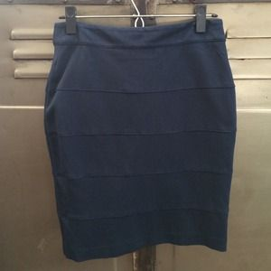Dresses & Skirts - Navy Blue Bodycon Pencil Skirt