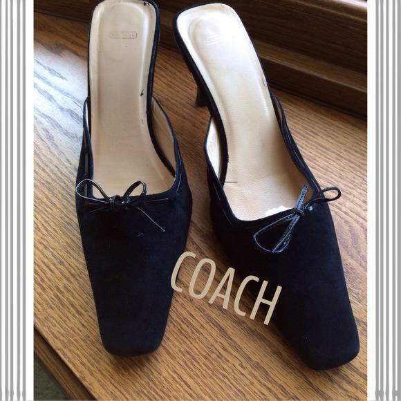 100 coach shoes coach high heel slides from teresa