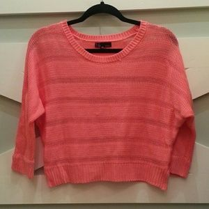 Pink Cropped Sweater Small