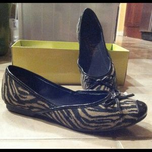 FLASH SALE!!! NIB Sam & Libby Zebra Ballet Flats