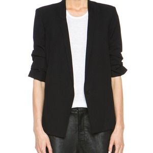 Helmut lang scrunched slouchy blazer 2