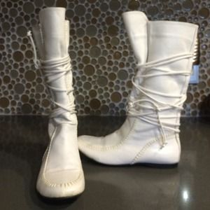 Zara all white boots! NWOT