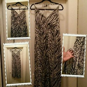 Dresses & Skirts - Animal print halter, dress