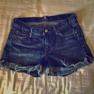 7 for all Mankind jean shorts, size 27.