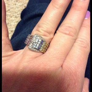 Jewelry - Rainbow gemstone buckle ring