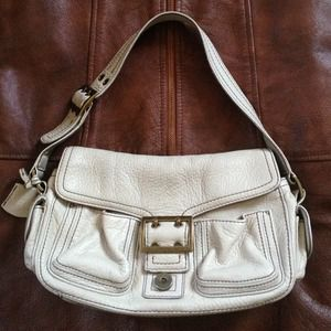 Leather Banana Republic soft leather bag.