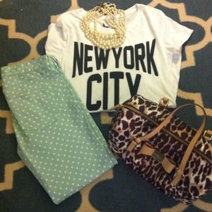 J.Crew cropped matchstick jean in dotted spearmint