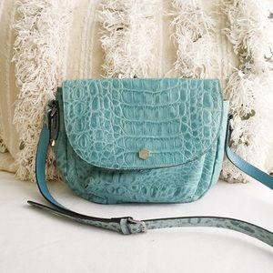 Lodis Handbags - Cameron Croc Embossed Leather Crossbody Bag
