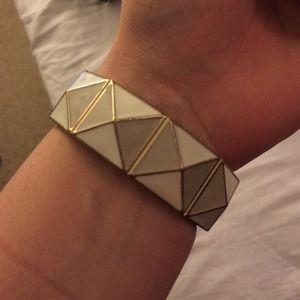 White & Gold Bracelet