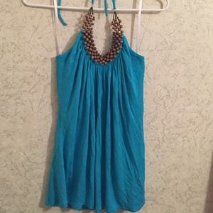 turquoise halter tank from Macy's.