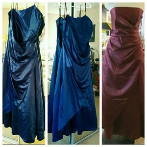 Beautiful Strapless Royal Blue Formal Dress