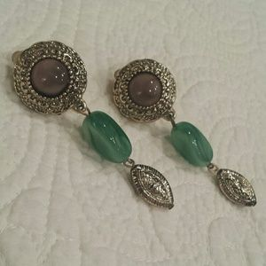 Vintage clip on gold plated earrings