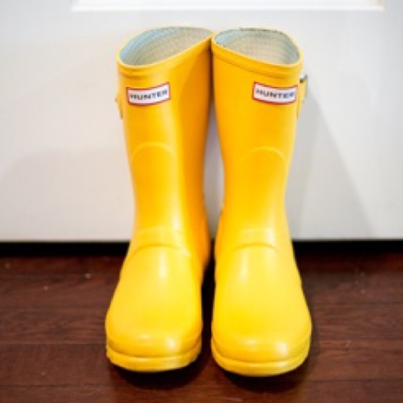 Short Yellow Rain Boots - Boot Hto