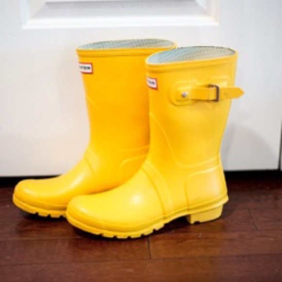 67% off Hunter Boots Shoes - Short Yellow Hunter Rainboots from ...