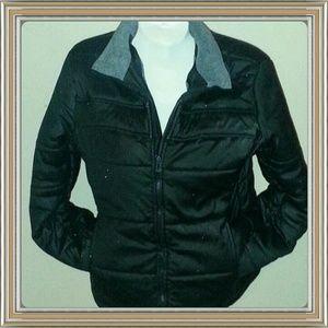Outer Edge Black Fleece Lined Jacket Size Medium