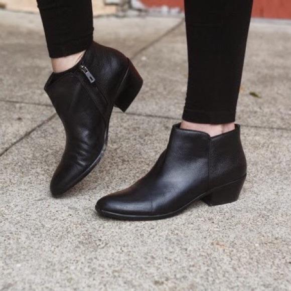 529f9e5e7070 Sam Edelman Petty Boot in Black Leather. M 547949e9b1760d056c05d6b1