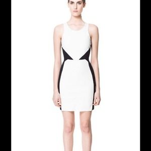 Zara Faux Leather Combination Dress