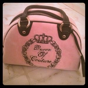 Pink velour Juicy Couture bowler handbag!