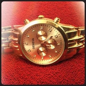 "Geneva rose gold ""boyfriend"" watch"