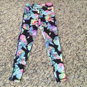 Floral stretch pants