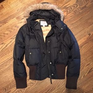 True Religion Outerwear - True Religion black puffy fitted coat