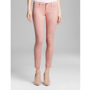 AG Zip Up Legging Ankle Skinny Jeans in Pink Coral