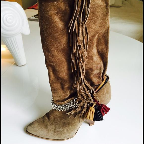 59% off Isabel Marant Shoes - Isabel Marant fringe suede boots ...