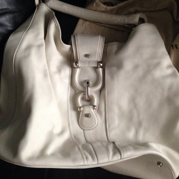 7d8f36f55c46 Burberry Handbags - Burberry Cream Leather Hobo Bag