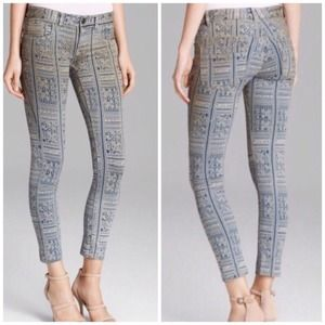 Free People ankle skinny stretch denim