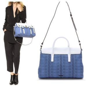 Rebecca Minkoff Handbags - New Rebecca Minkoff Blue/White Large Jules Satchel