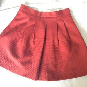 H&M Dresses & Skirts - Rust Orange Pleated Skater Skirt