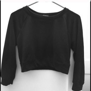 Sparkle & Fade cropped crew neck sweater