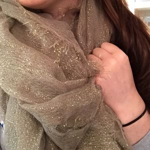 Accessories - Sparkly Taupe Scarf
