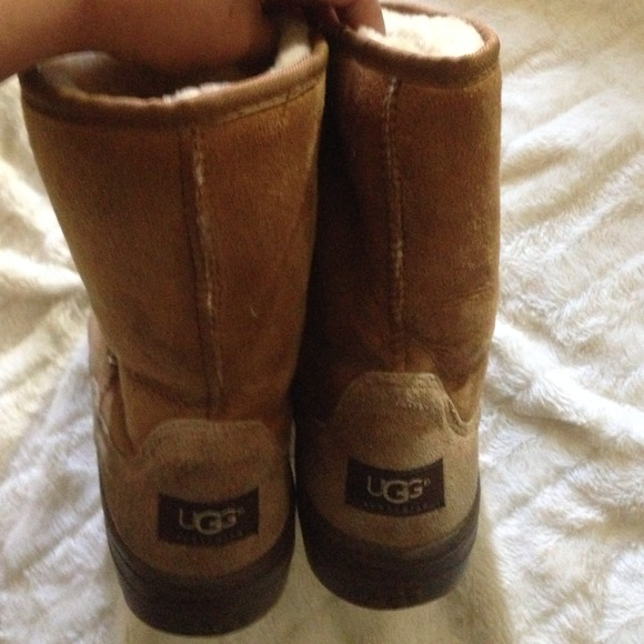 79 Off Ugg Boots Ligh Brown Ugg Boots Rubber Sole From