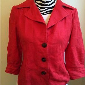 Red Zara Blazer Jacket