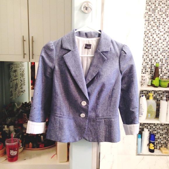 42b32a4f Sparkle & Fade Jackets & Coats | Cute Chambray Blazer | Poshmark