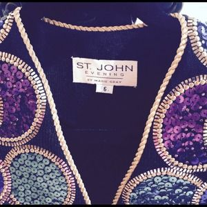St. John Evening by Marie Gray Jackets & Coats - St. John Evening Jacket w/ Multi-Colored Sequins